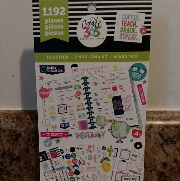 The Happy Planner Stickers Teacher 1192 Pieces New